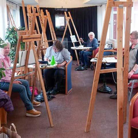 Kustkonst ABF's målarvänner Fyren Norrsundet