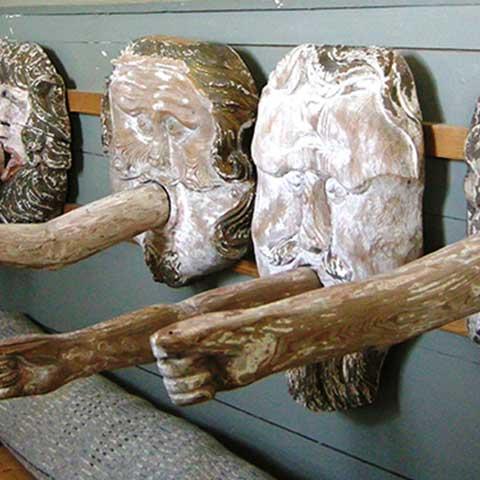 Kustkonst medeltida skulpturer Hamrånge Kyrka Bergby