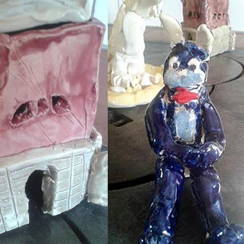 Kustkonst Viktor Påhlman 12 år keramik m.m.